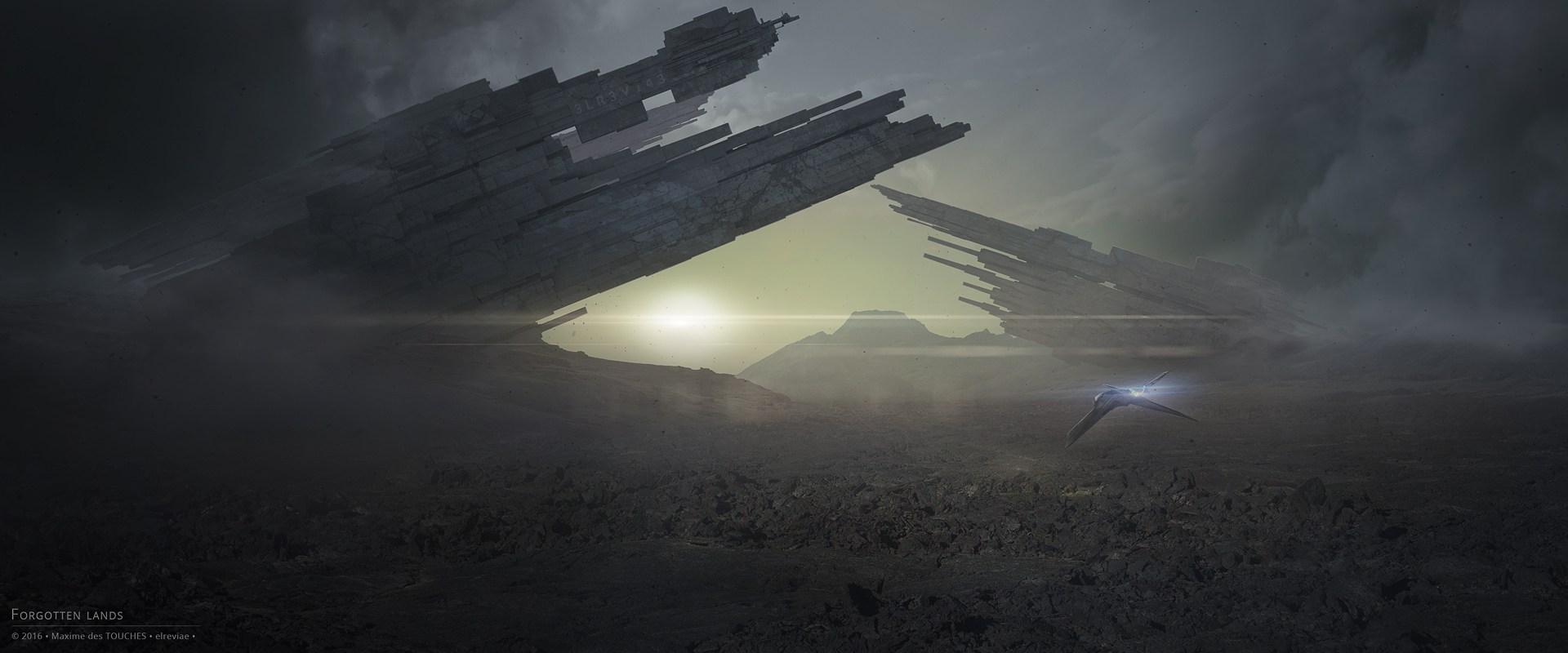 Forgotten Lands Concept art Science fiction artworks