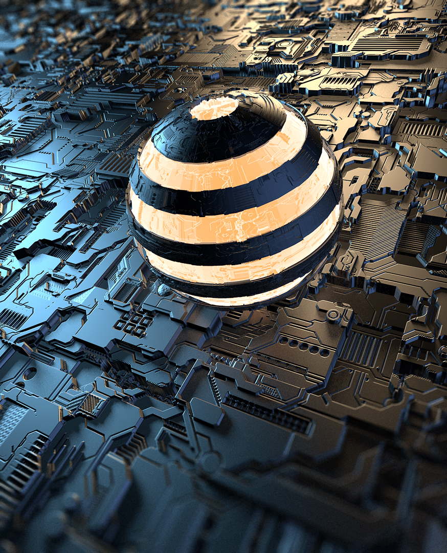 Sphere 3D Displacement mapping