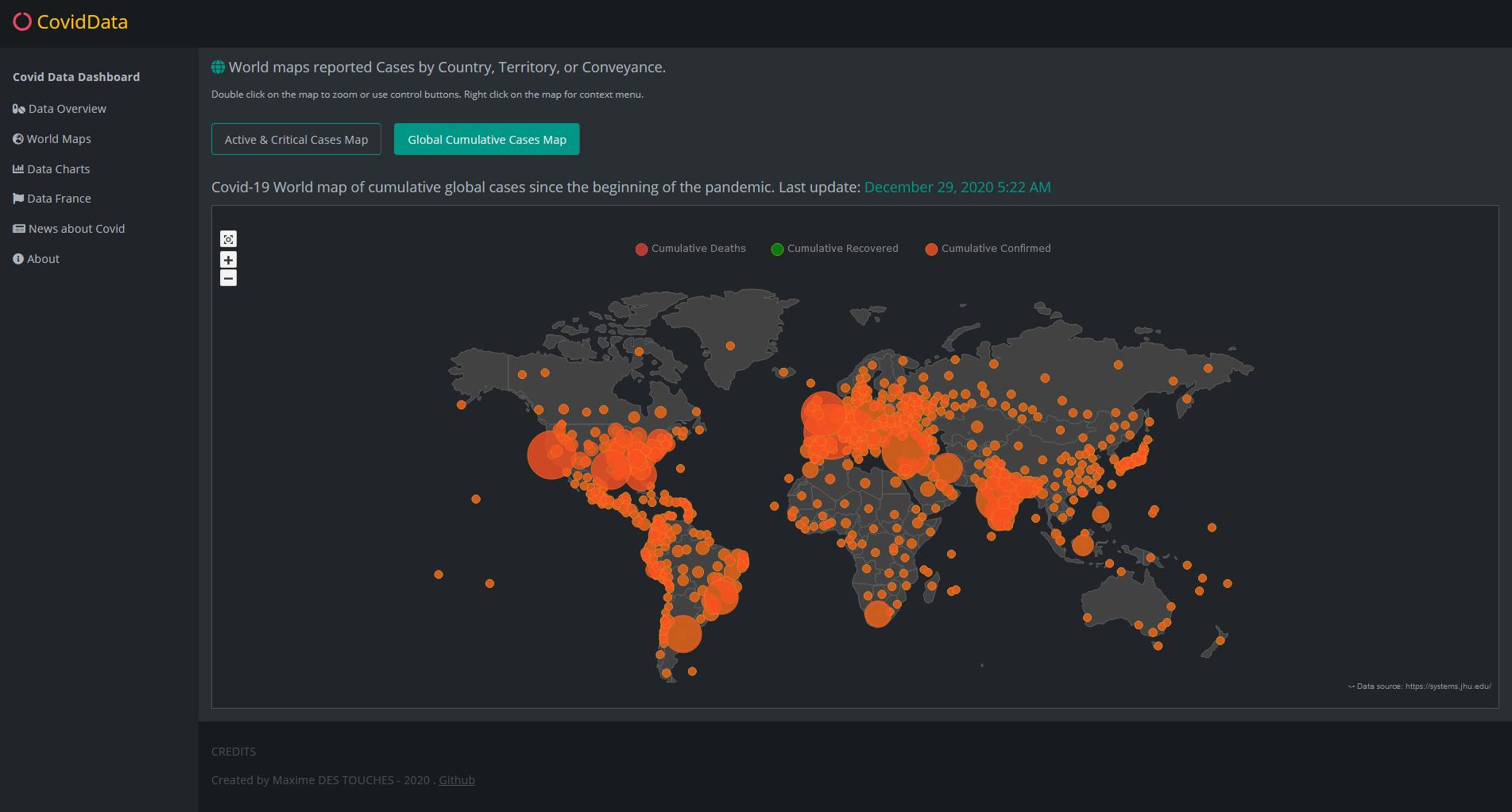 Data World maps