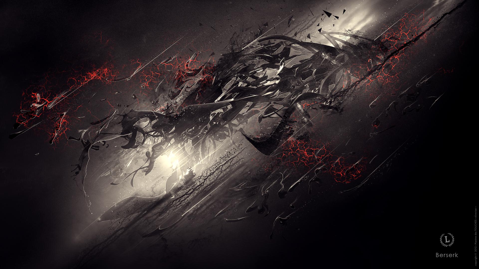 Berserk abstract digital artworks