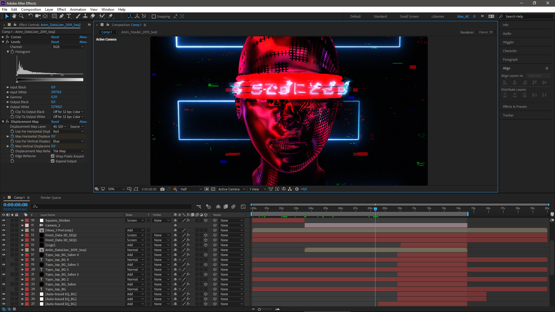 DataLizer motion design After Effects tools and timeline