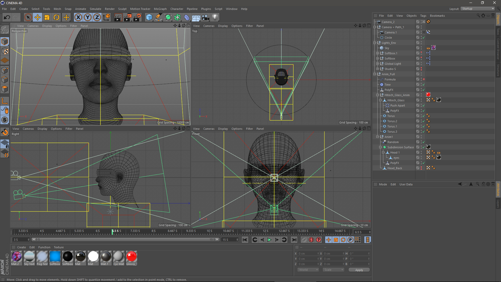 DataLizer motion design Cinema 4D viewports scene
