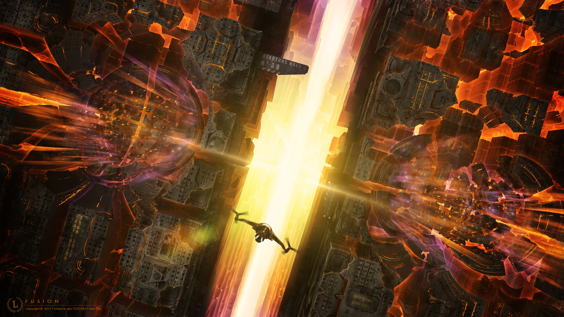 Fusion science fiction artwork