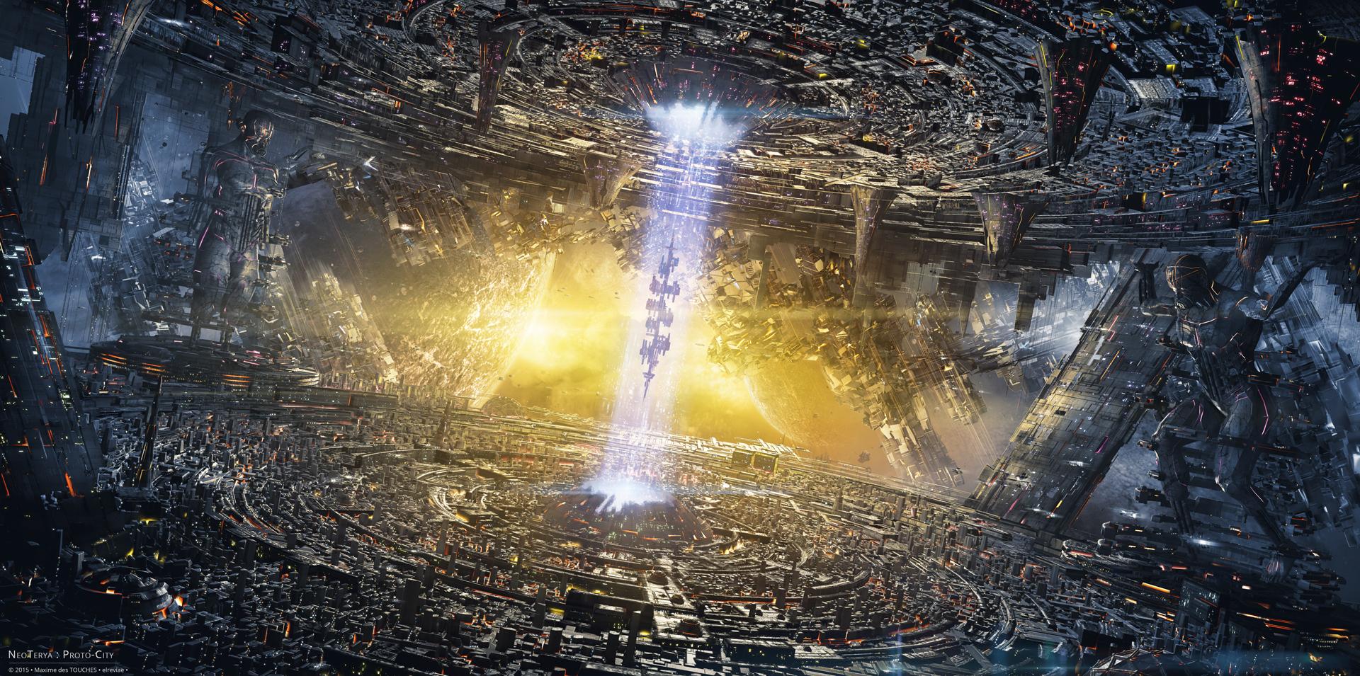NeoTerya Proto-City science fiction art project