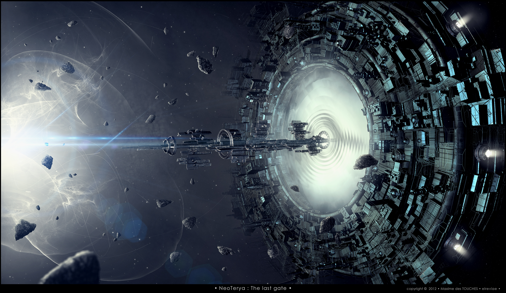 NeoTerya The last gate science fiction art project