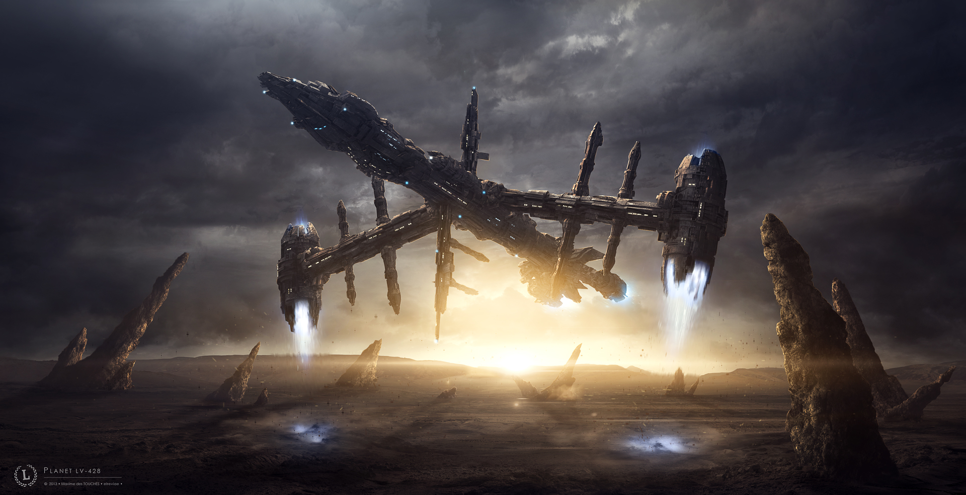 Planet LV-428 science fiction artwork