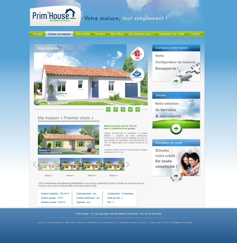 Web design Prim House