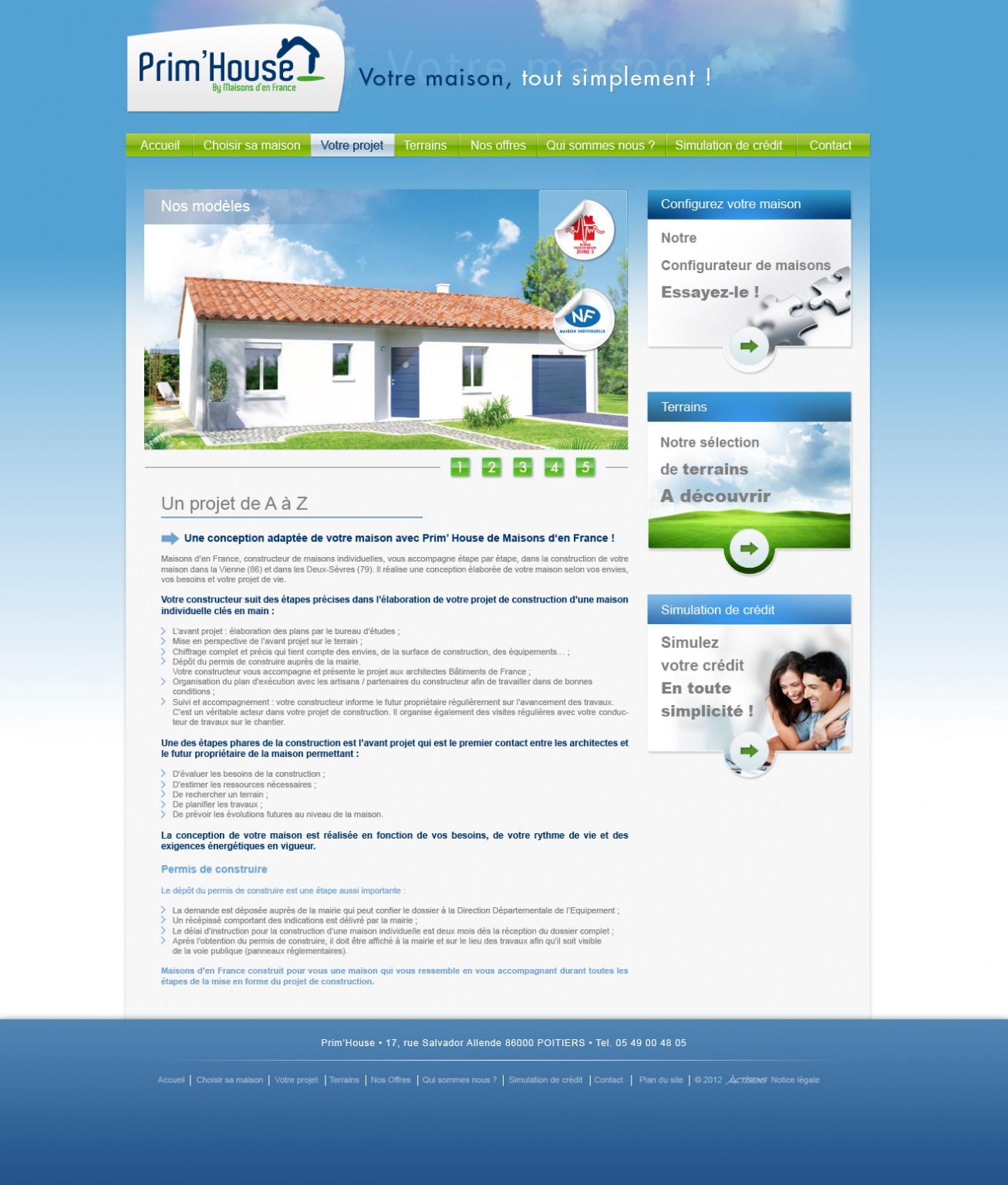 Inner page design Prim House