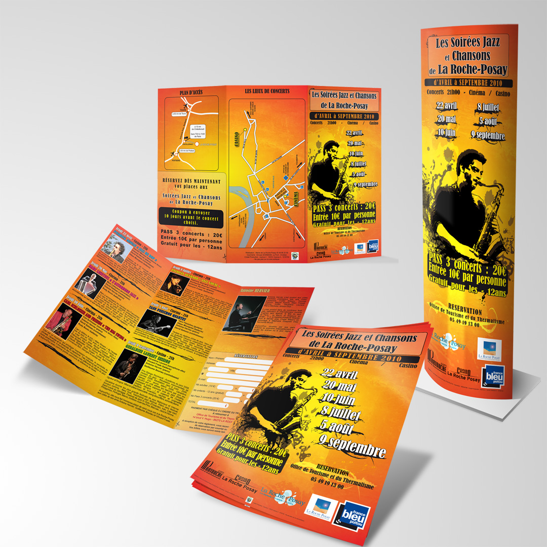 Posters & Flyers for Jazz event 2010