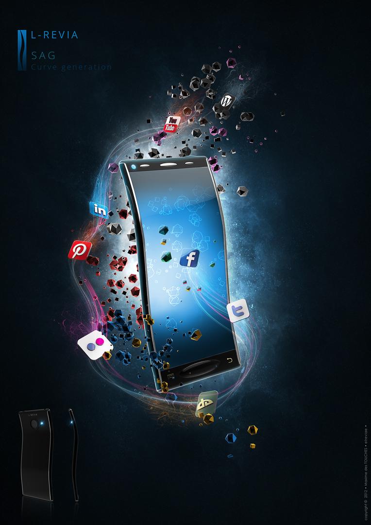 3D illustration Smartphone SAG