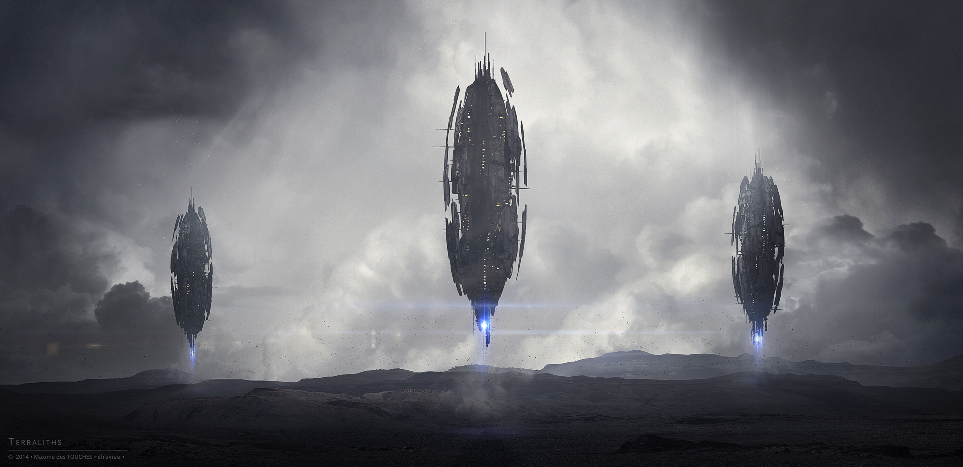 Terraliths science fiction artwork