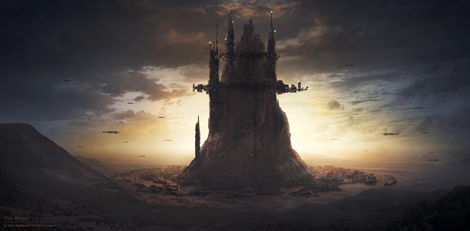 The Refuge science fiction artwork