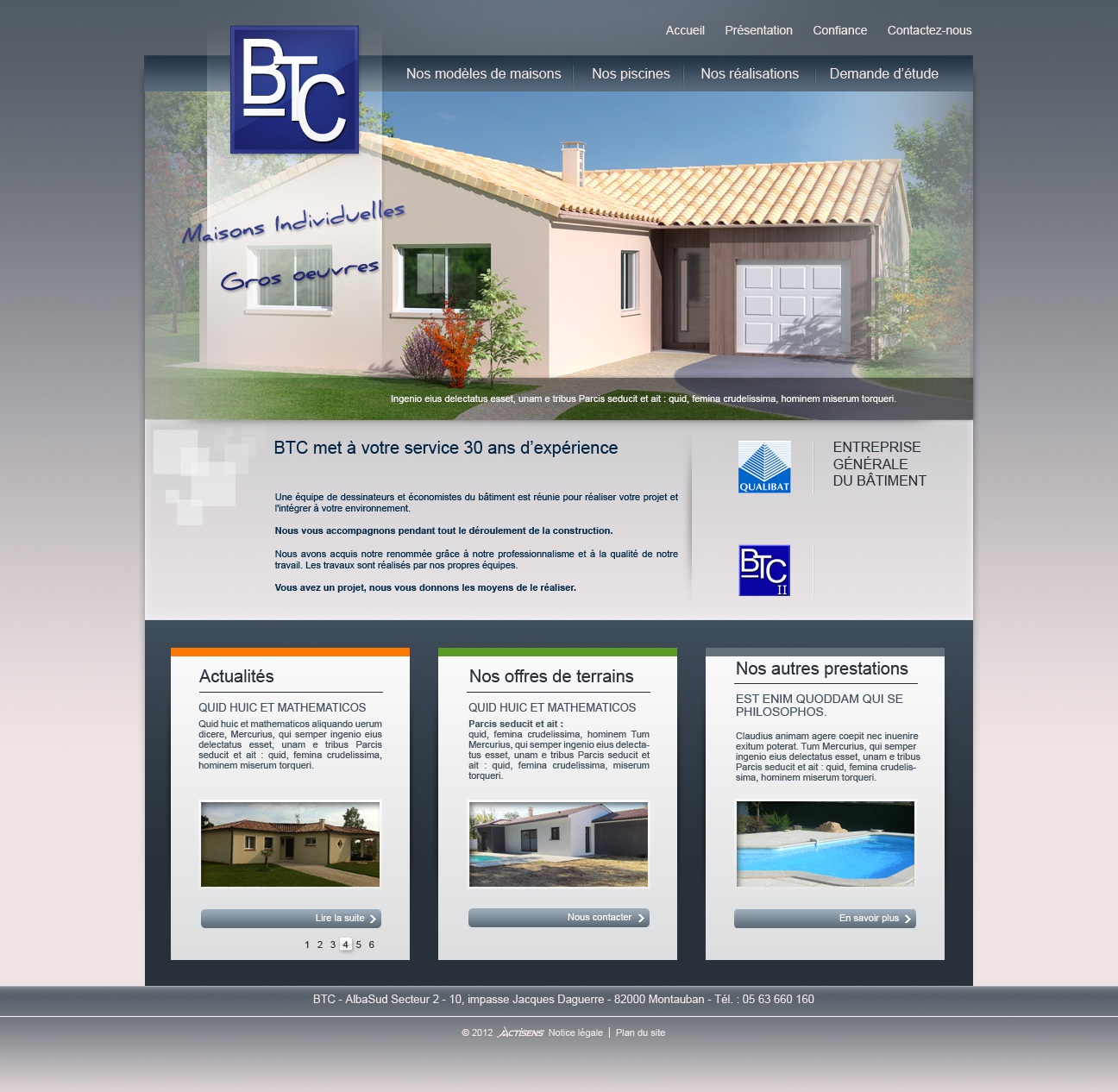 Web design BTC template