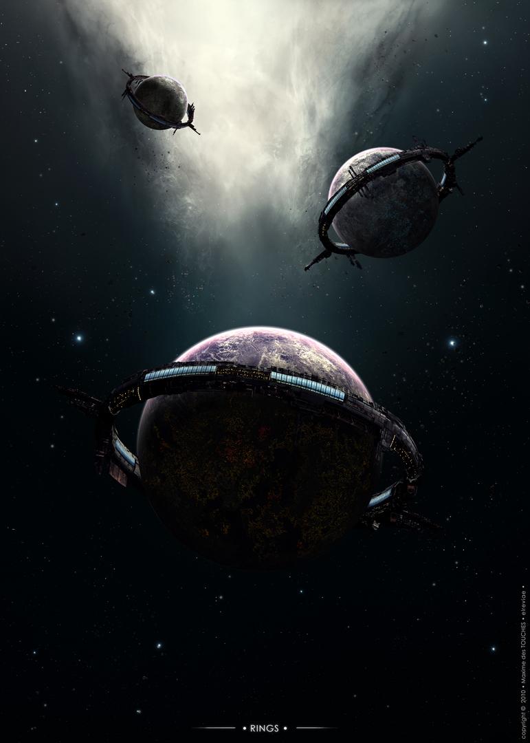 Rings space art