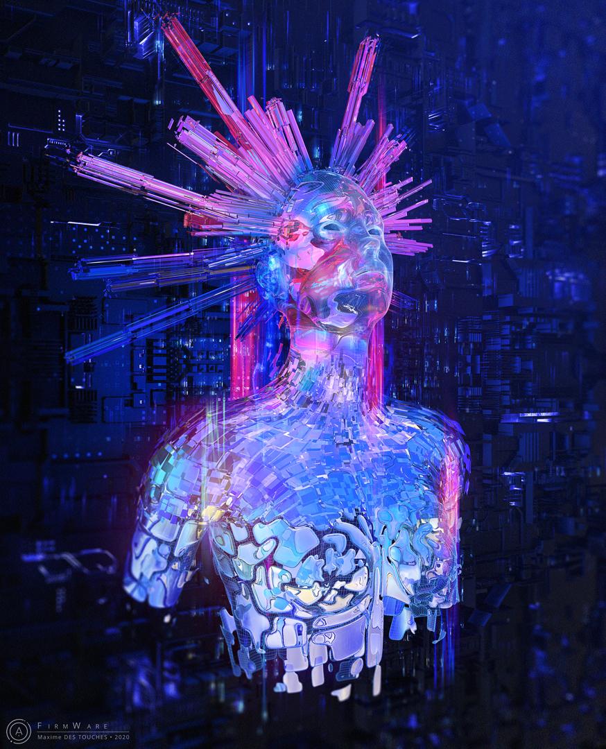 Digital art news, Firmware 3D artwork Maxime des Touches elreviae