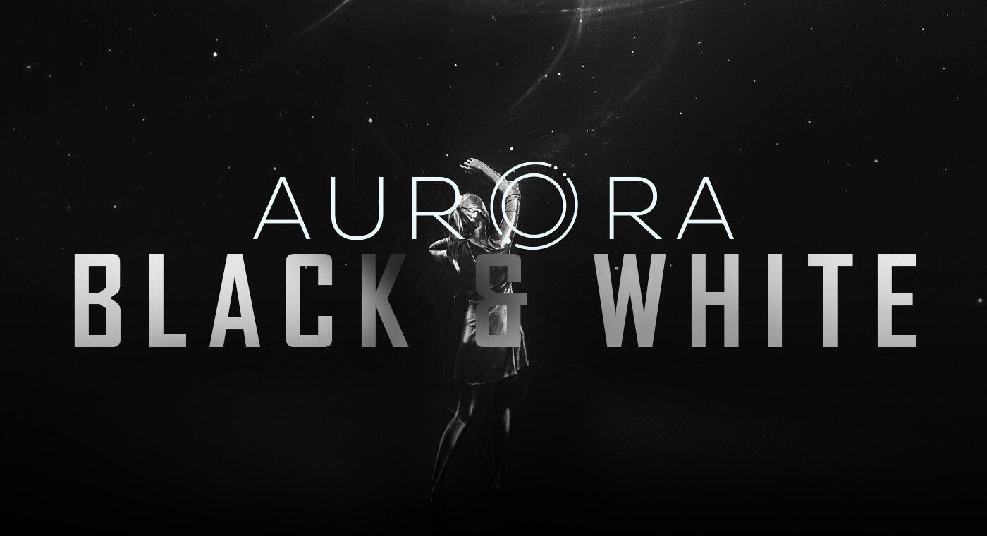 Aurora VIII: Black & White - science fiction artwork Maxime des Touches elreviae